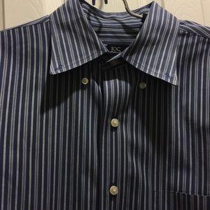 Jos. A. Bank Blue & White Stripe Size M